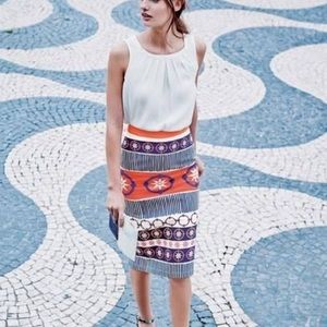 Boden colorful printed pencil skirt cotton